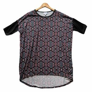 LuLaRoe Irma Short Sleeve Geometric Print Top